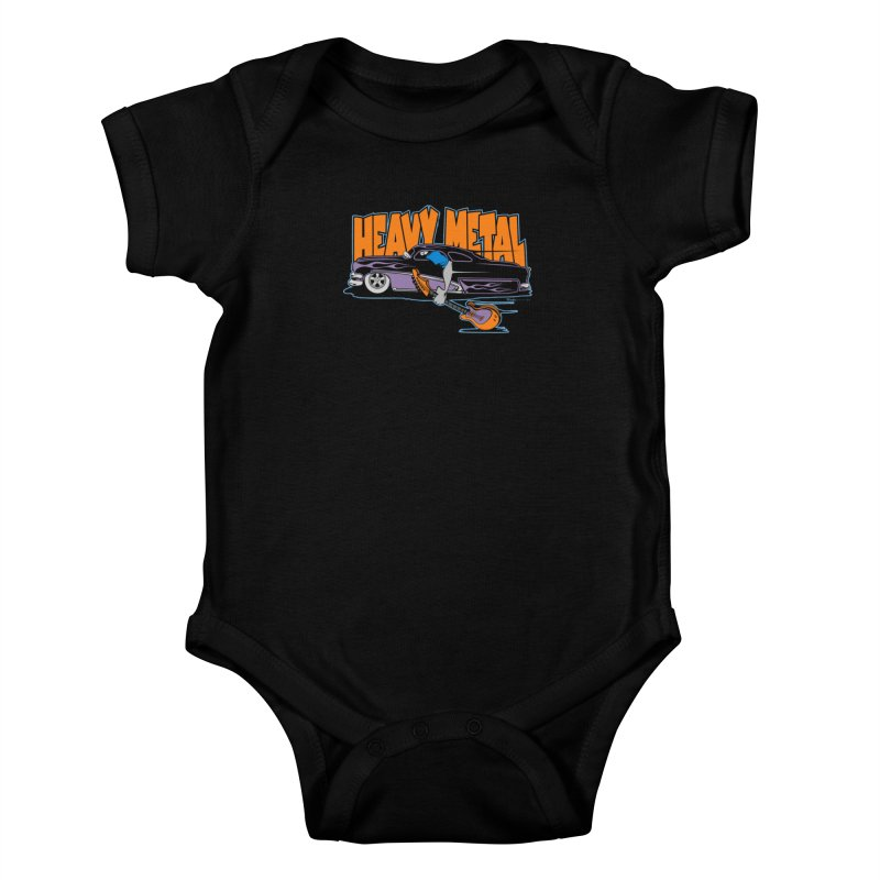 Heavy Metal Kids Baby Bodysuit by EngineHouse13's Artist Shop