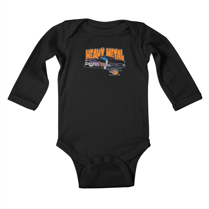Heavy Metal Kids Baby Longsleeve Bodysuit by EngineHouse13's Artist Shop