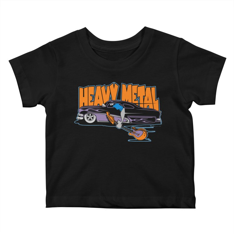 Heavy Metal Kids Baby T-Shirt by EngineHouse13's Artist Shop