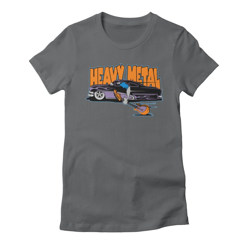 Heavy Metal Women's Fitted T-Shirt by EngineHouse13's Artist Shop