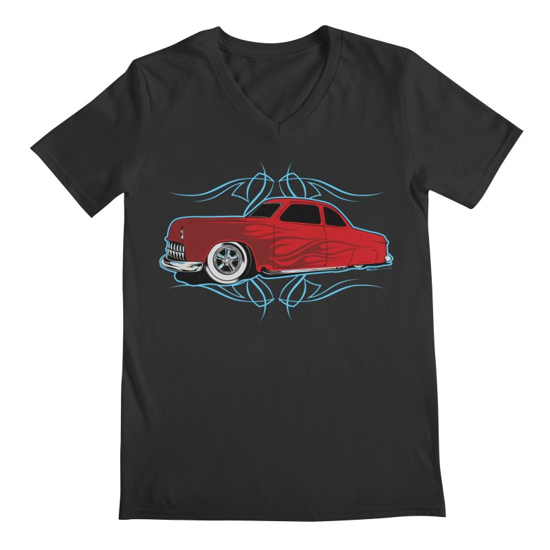 50 Kustom Men's V-Neck by EngineHouse13's Artist Shop