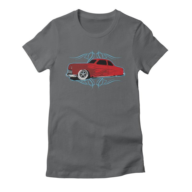 50 Kustom Women's Fitted T-Shirt by EngineHouse13's Artist Shop