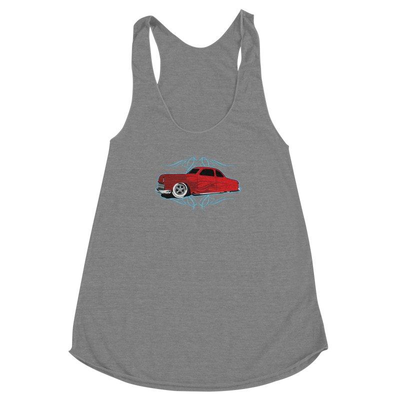 50 Kustom Women's Racerback Triblend Tank by EngineHouse13's Artist Shop