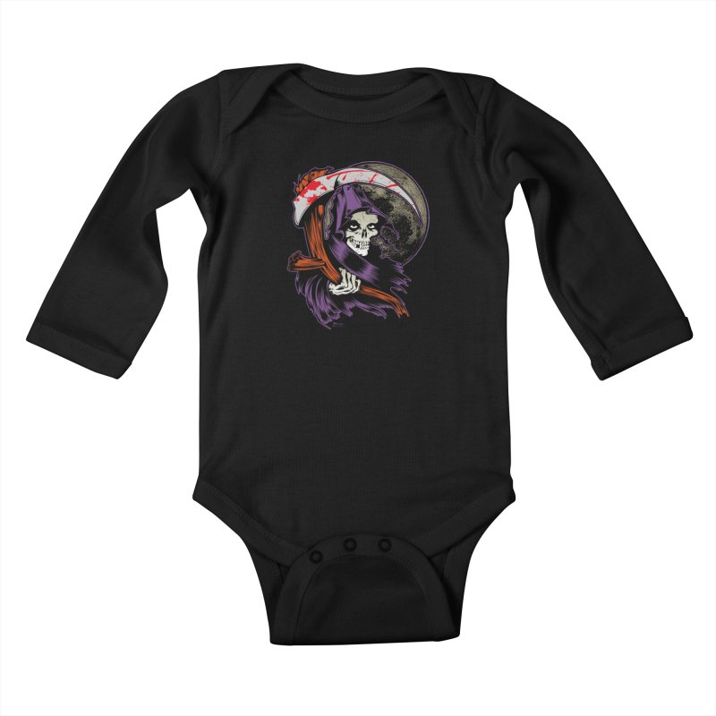 Reaper will Reap! Kids Baby Longsleeve Bodysuit by EngineHouse13's Artist Shop
