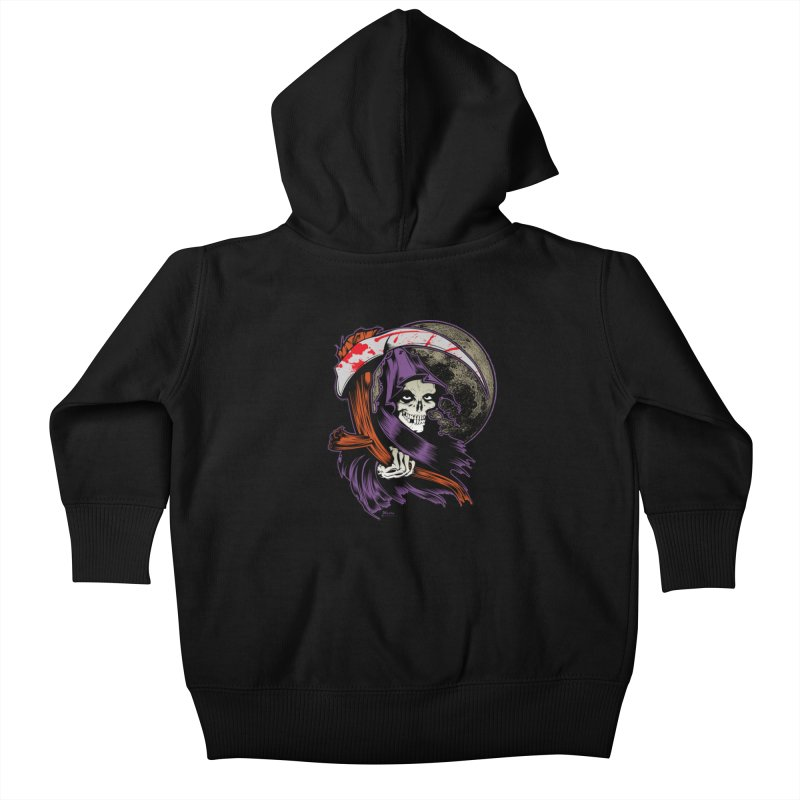 Reaper will Reap! Kids Baby Zip-Up Hoody by EngineHouse13's Artist Shop