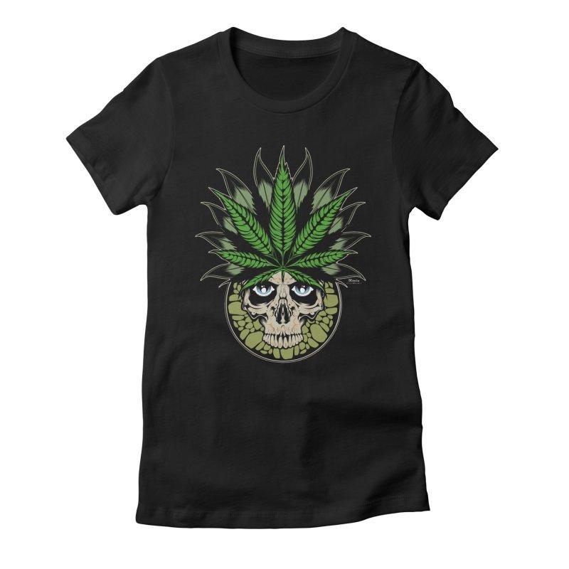 Smokin' Women's Fitted T-Shirt by EngineHouse13's Artist Shop