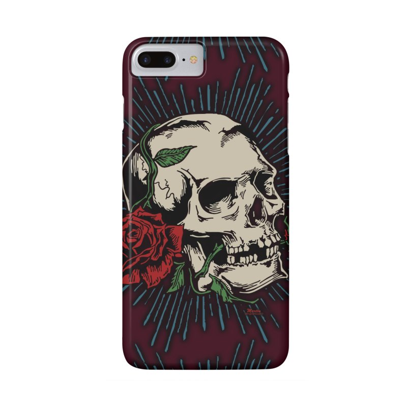 Roses of Death in iPhone 7 Plus Phone Case Slim by EngineHouse13's Artist Shop