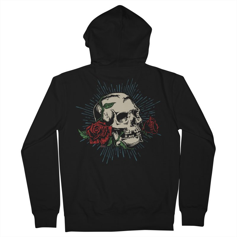 Roses of Death Men's Zip-Up Hoody by EngineHouse13's Artist Shop