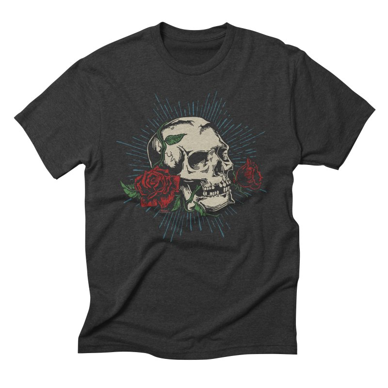 Roses of Death Men's Triblend T-Shirt by EngineHouse13's Artist Shop