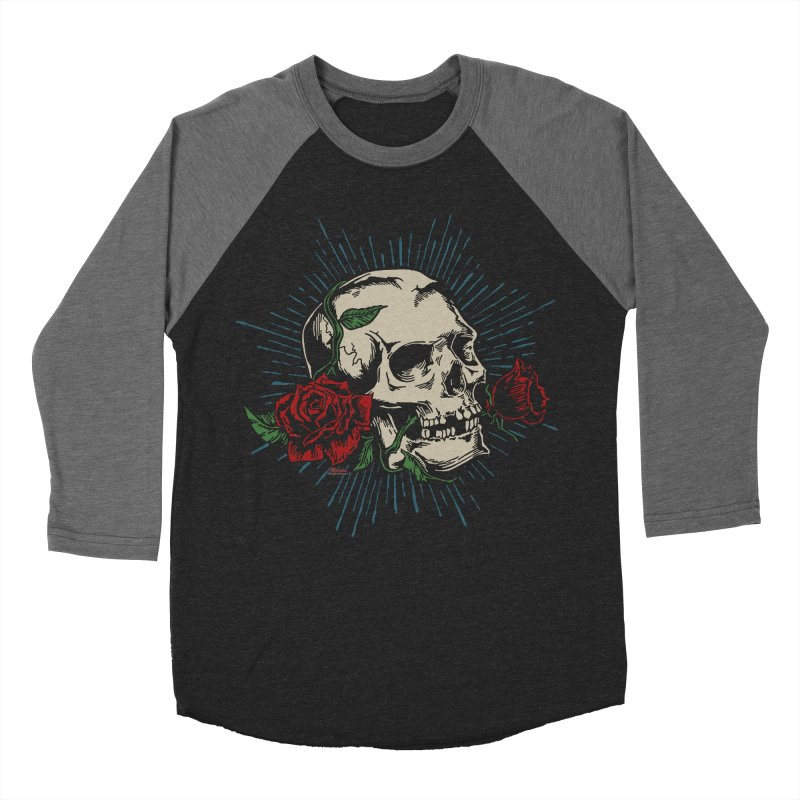 Roses of Death Men's Baseball Triblend T-Shirt by EngineHouse13's Artist Shop
