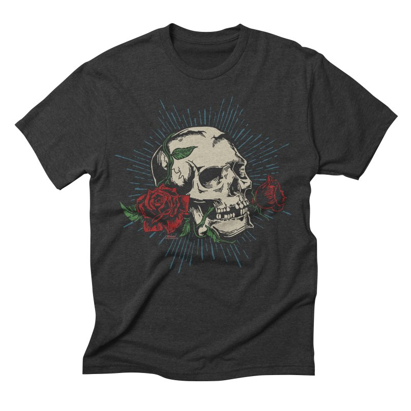 Roses of Death Men's Triblend T-shirt by EngineHouse13's Artist Shop