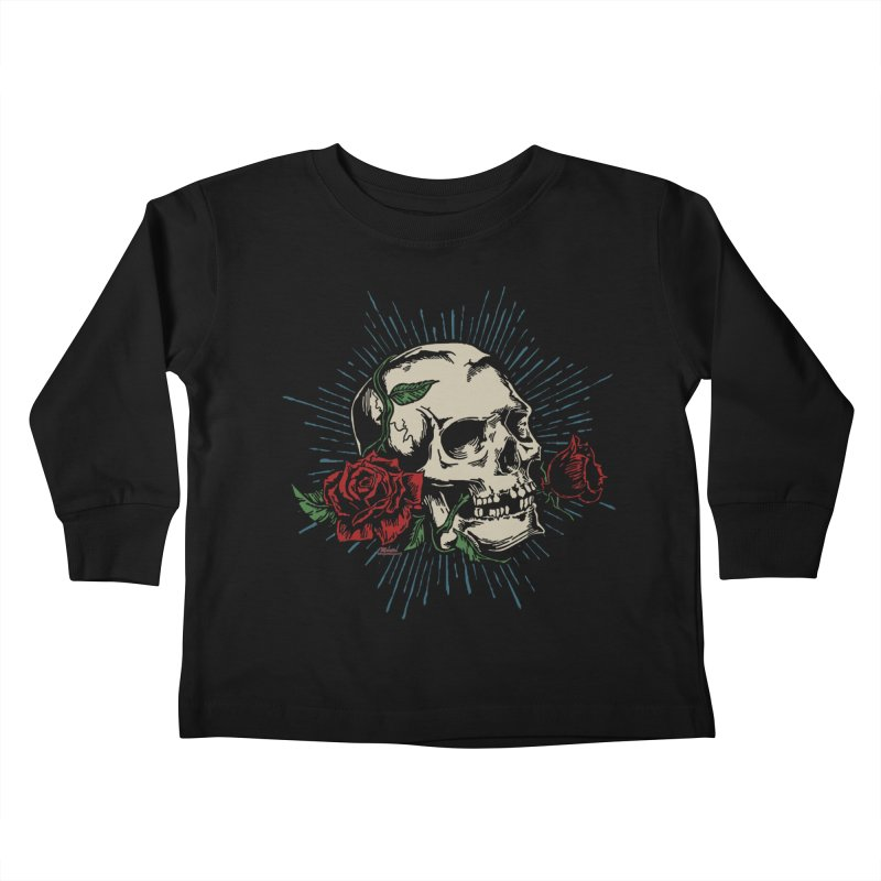Roses of Death Kids Toddler Longsleeve T-Shirt by EngineHouse13's Artist Shop