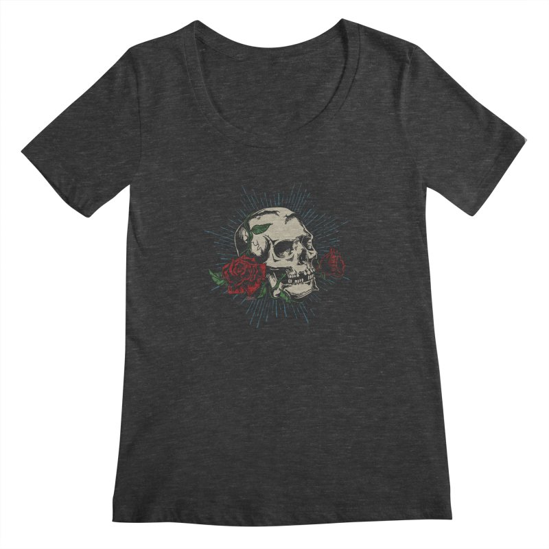 Roses of Death Women's Scoopneck by EngineHouse13's Artist Shop