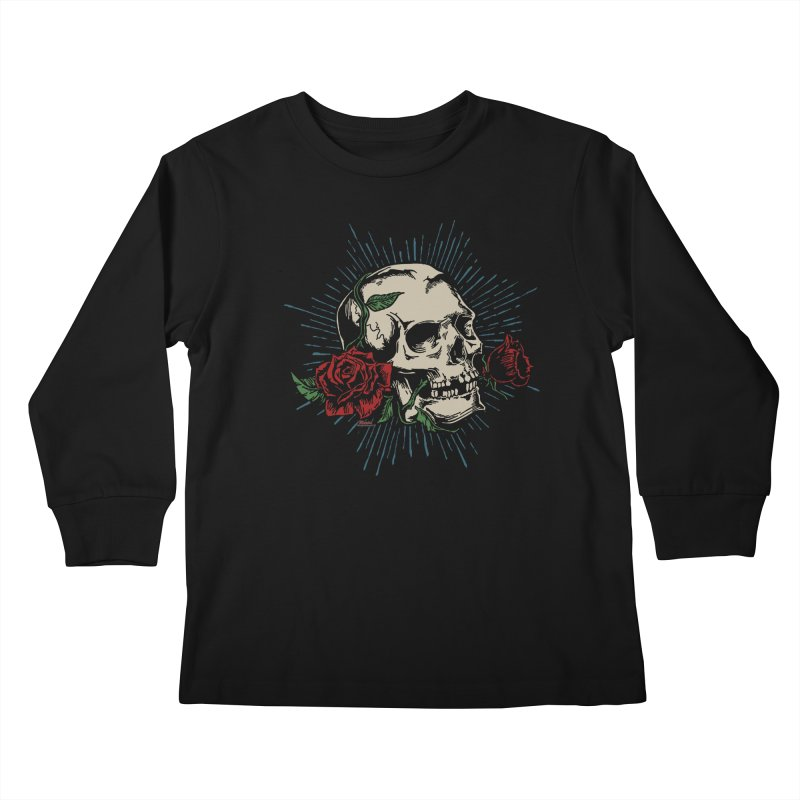 Roses of Death Kids Longsleeve T-Shirt by EngineHouse13's Artist Shop