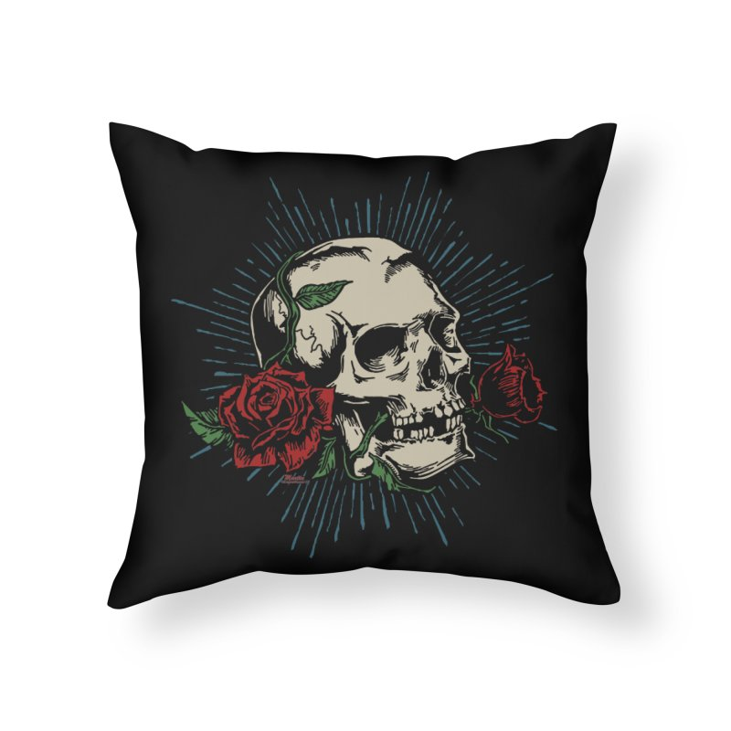 Roses of Death Home Throw Pillow by EngineHouse13's Artist Shop