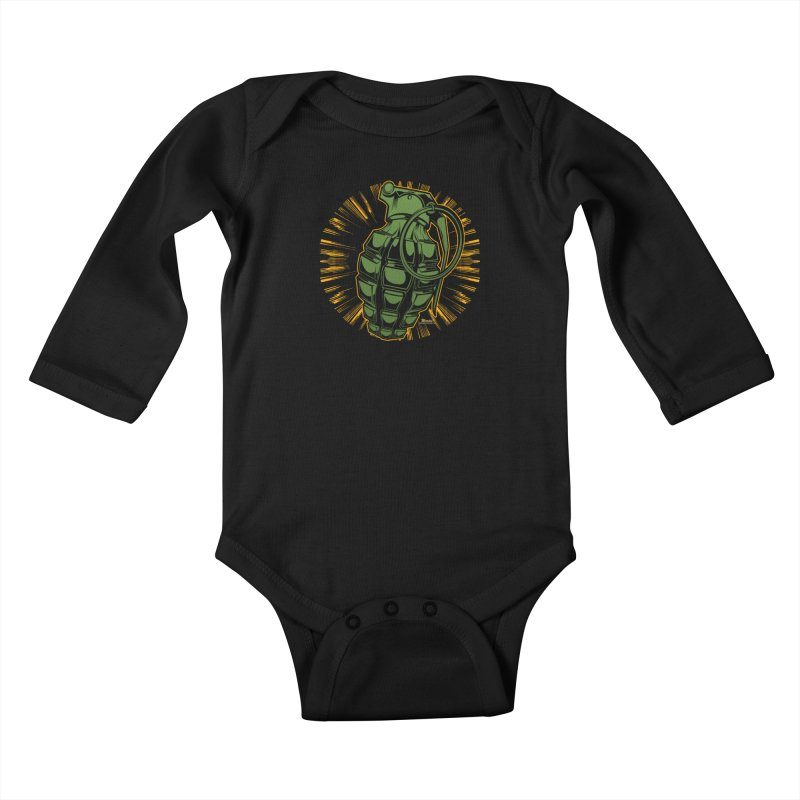 BOOM!!! Kids Baby Longsleeve Bodysuit by EngineHouse13's Artist Shop
