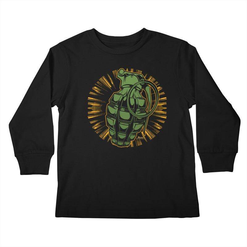 BOOM!!! Kids Longsleeve T-Shirt by EngineHouse13's Artist Shop