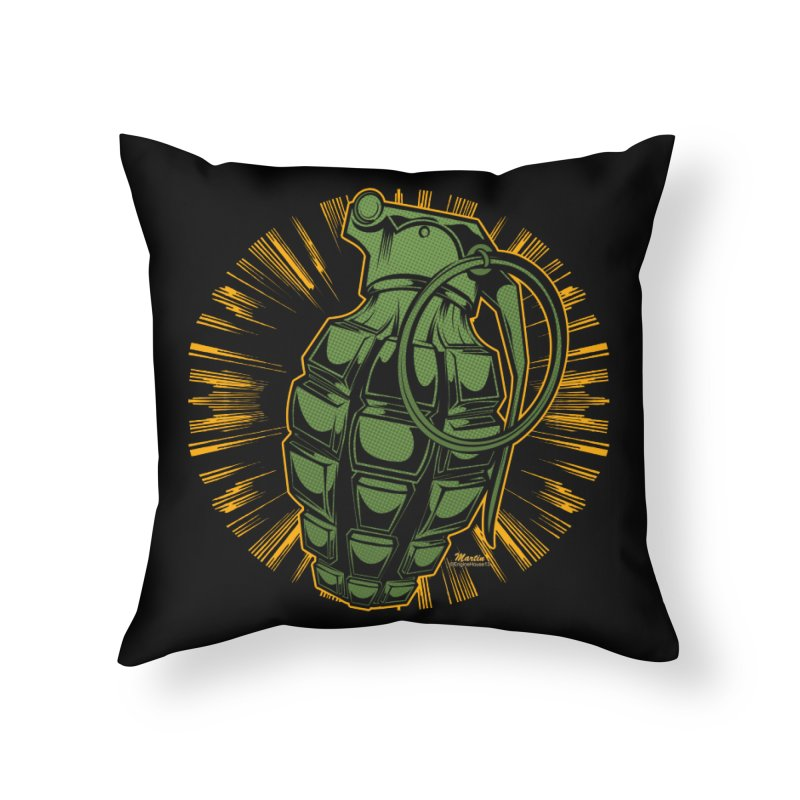 BOOM!!! Home Throw Pillow by EngineHouse13's Artist Shop