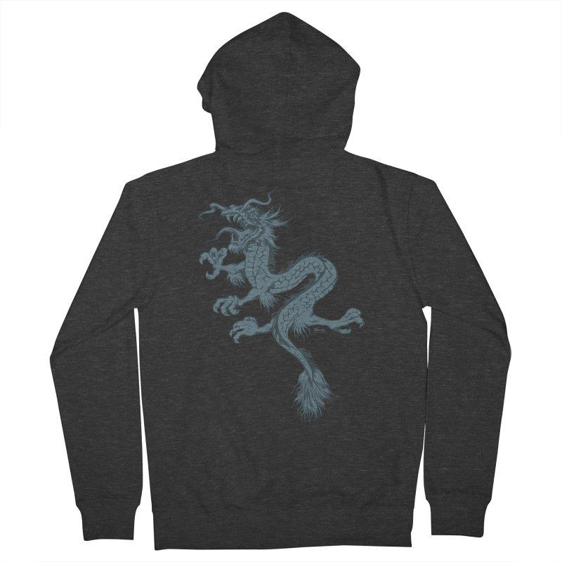Dragon Men's Zip-Up Hoody by EngineHouse13's Artist Shop