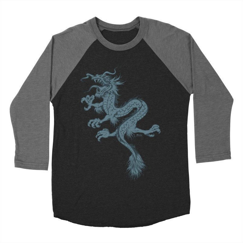 Dragon Men's Baseball Triblend T-Shirt by EngineHouse13's Artist Shop