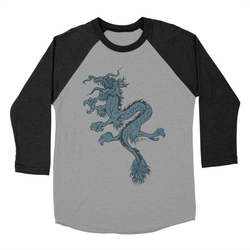 Dragon Men's Baseball Triblend T-Shirt by EngineHouse13's Artist Shop