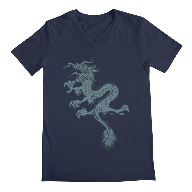 Dragon Men's V-Neck by EngineHouse13's Artist Shop