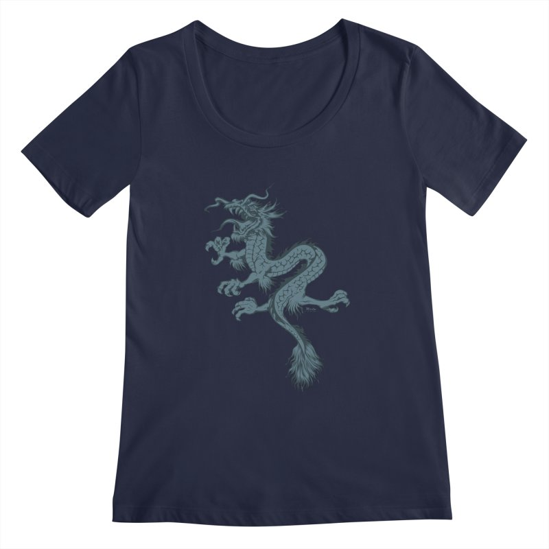 Dragon Women's Scoopneck by EngineHouse13's Artist Shop