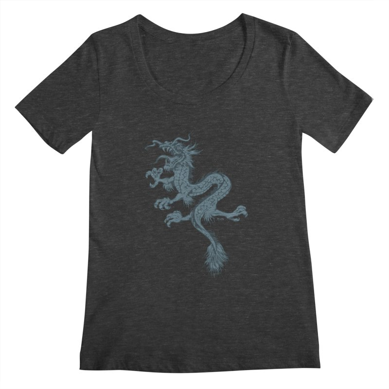 Dragon Women's Scoopneck by EngineHouse13's Artist Shop