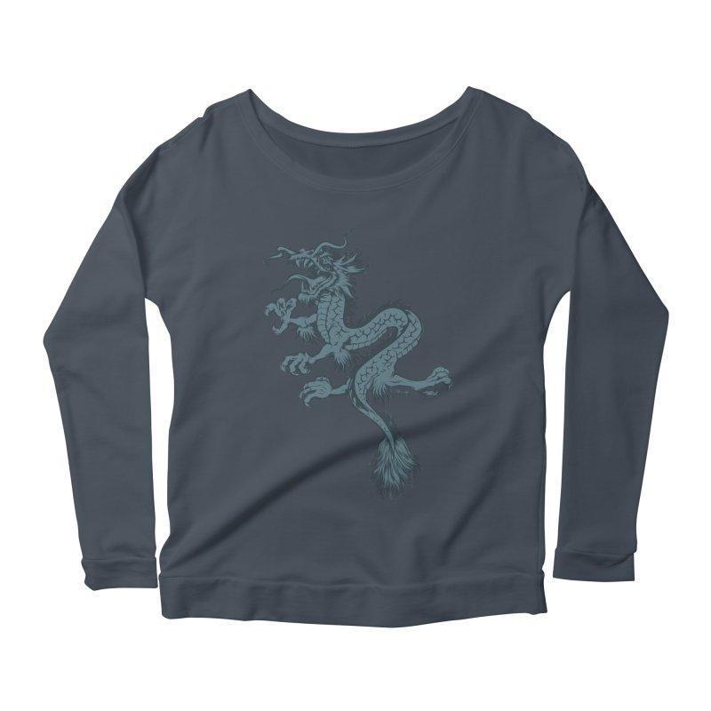 Dragon Women's Longsleeve Scoopneck  by EngineHouse13's Artist Shop