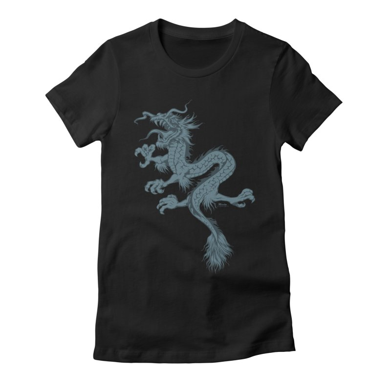 Dragon Women's Fitted T-Shirt by EngineHouse13's Artist Shop