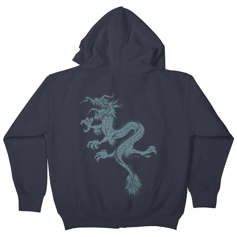 Dragon Kids Zip-Up Hoody by EngineHouse13's Artist Shop