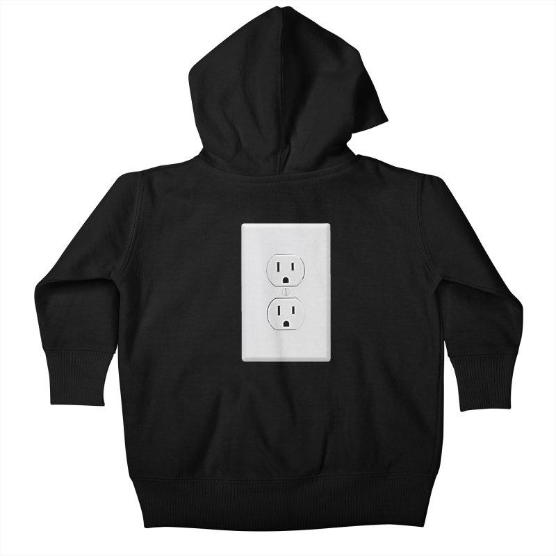 Plug In Kids Baby Zip-Up Hoody by EngineHouse13's Artist Shop