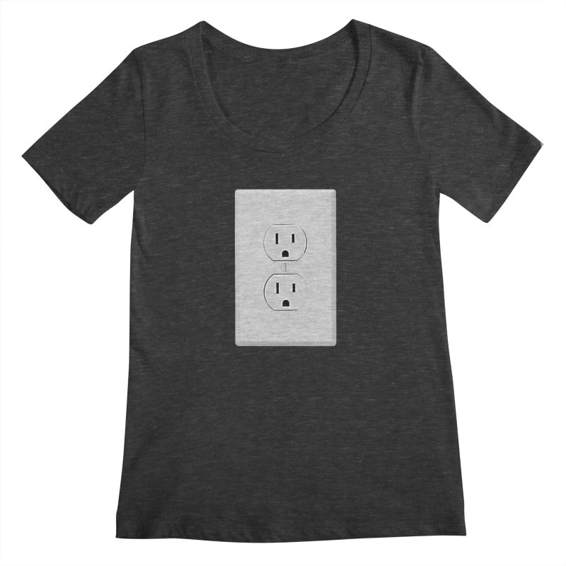 Plug In Women's Scoopneck by EngineHouse13's Artist Shop