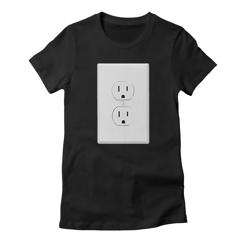 Plug In Women's Fitted T-Shirt by EngineHouse13's Artist Shop