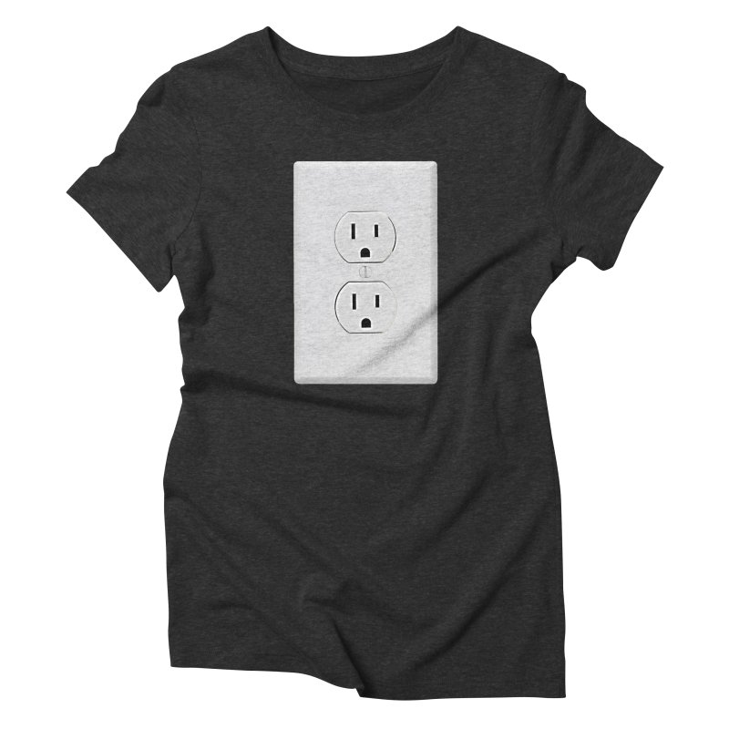 Plug In Women's Triblend T-shirt by EngineHouse13's Artist Shop