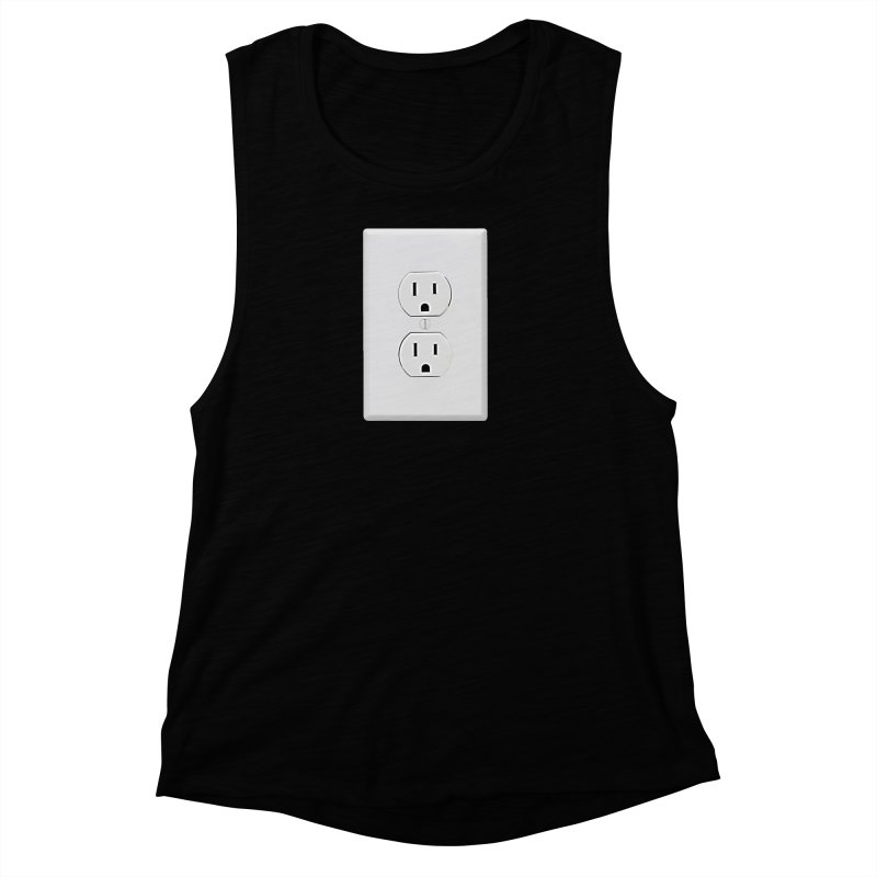 Plug In Women's Muscle Tank by EngineHouse13's Artist Shop