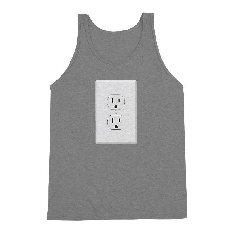 Plug In Men's Triblend Tank by EngineHouse13's Artist Shop
