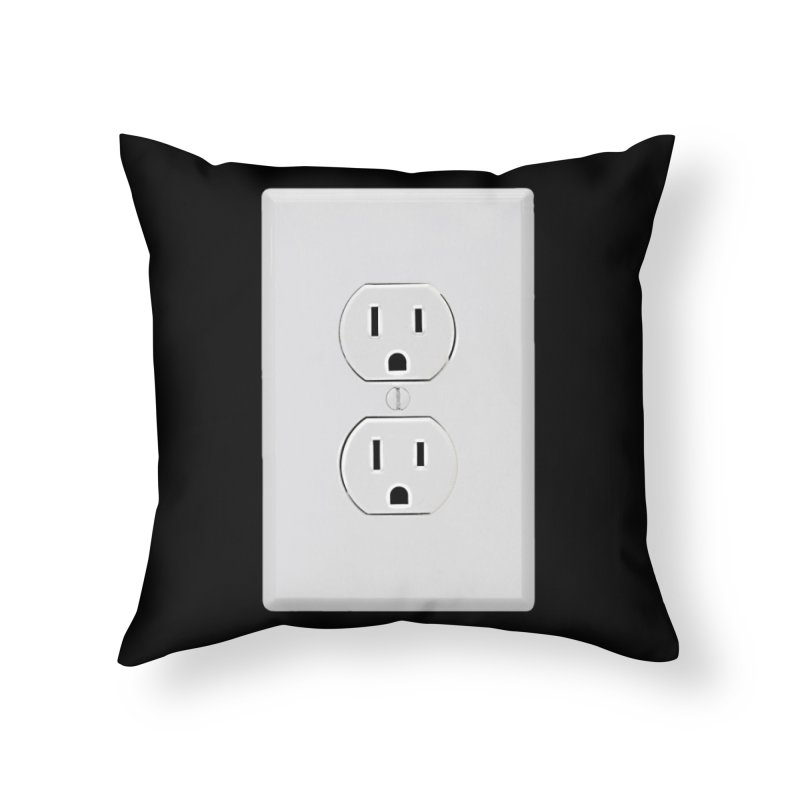 Plug In Home Throw Pillow by EngineHouse13's Artist Shop
