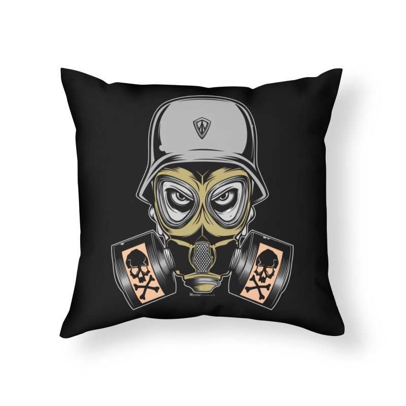 Gassed Home Throw Pillow by EngineHouse13's Artist Shop