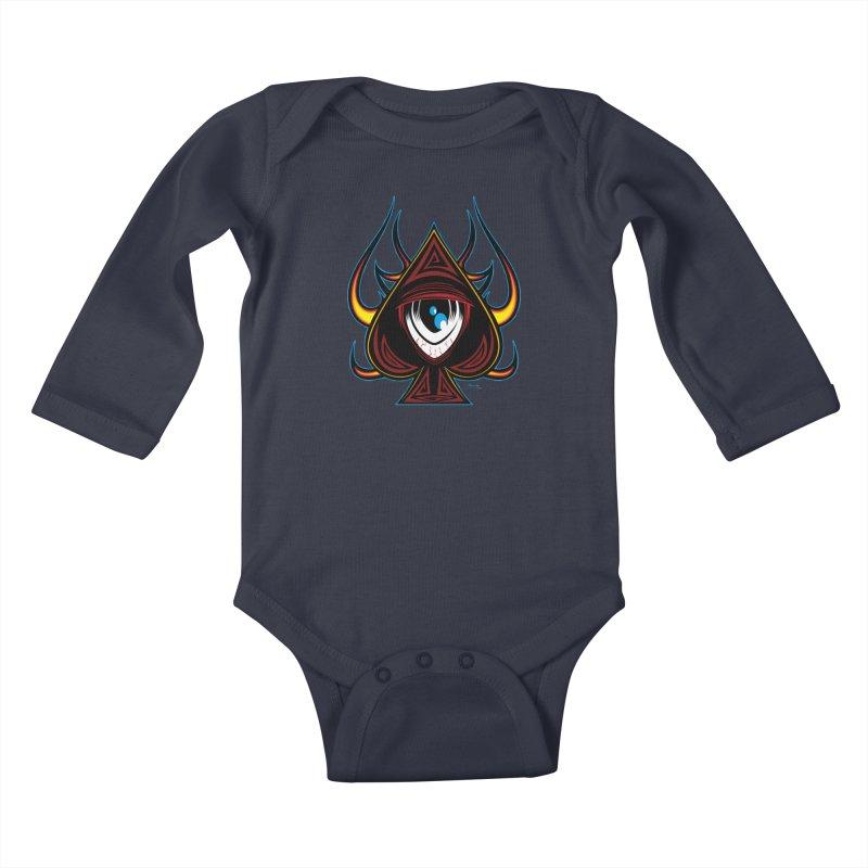 Spade Ball Kids Baby Longsleeve Bodysuit by EngineHouse13's Artist Shop