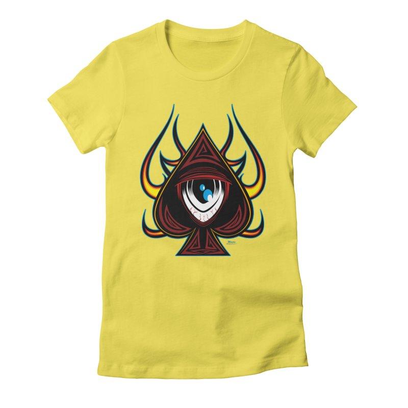 Spade Ball Women's Fitted T-Shirt by EngineHouse13's Artist Shop