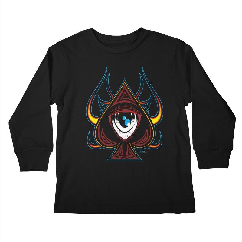Spade Ball Kids Longsleeve T-Shirt by EngineHouse13's Artist Shop