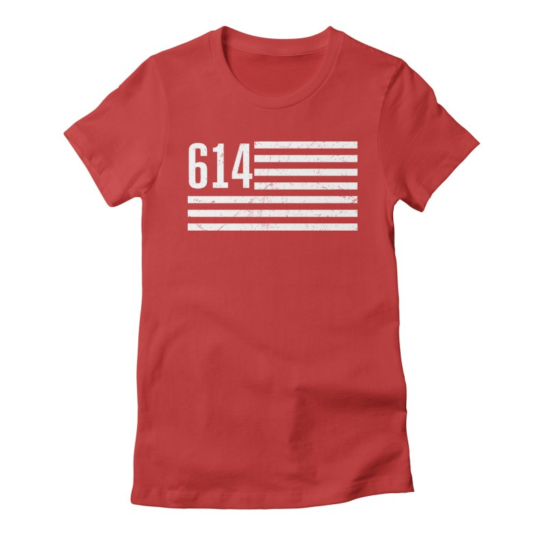 614 Flag Women's Fitted T-Shirt by EngineHouse13's Artist Shop