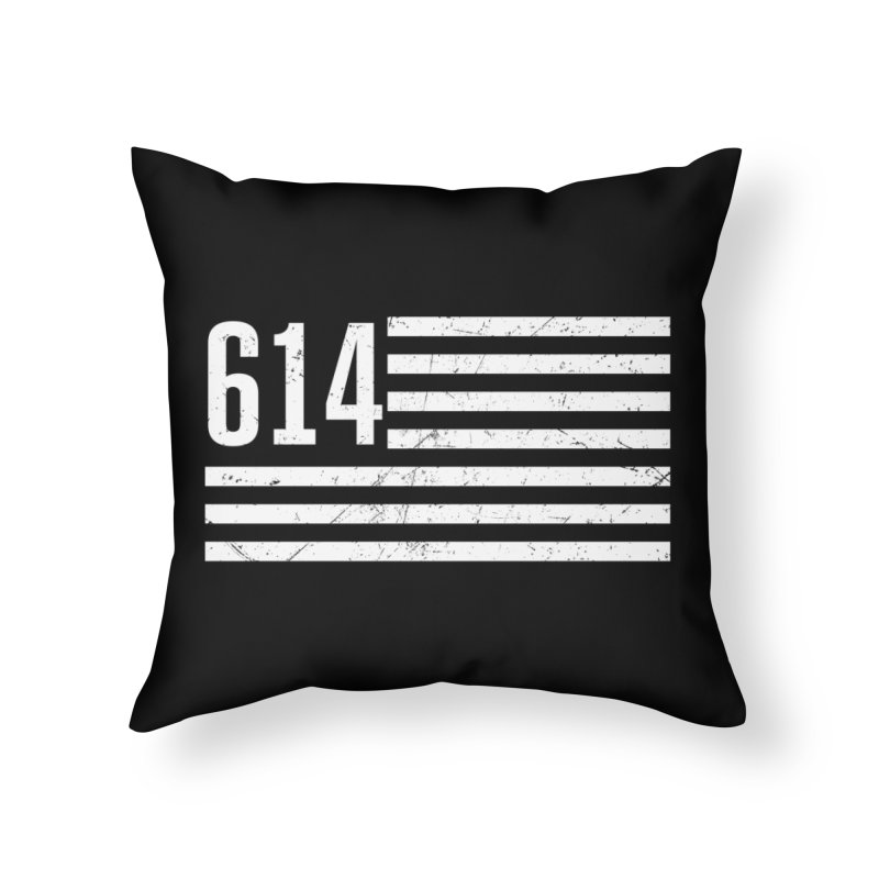 614 Flag Home Throw Pillow by EngineHouse13's Artist Shop