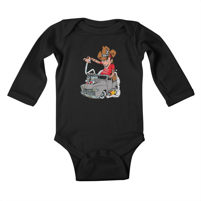 Blown 52 Chevy Kids Baby Longsleeve Bodysuit by EngineHouse13's Artist Shop