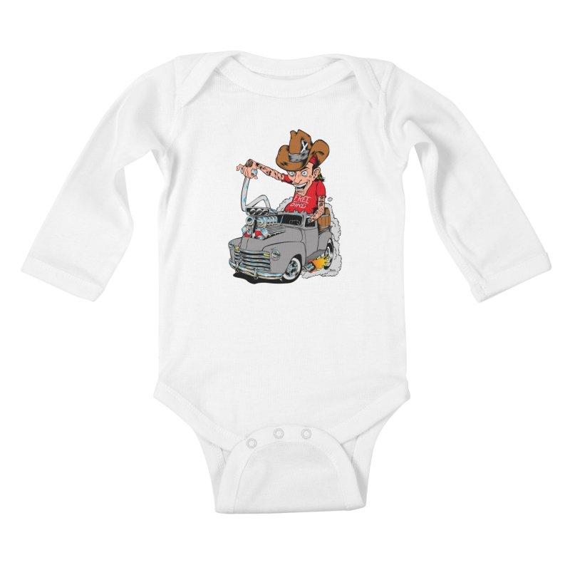 Blown 52 Chevy Kids Baby Longsleeve Bodysuit by EngineHouse13's Artist Shop