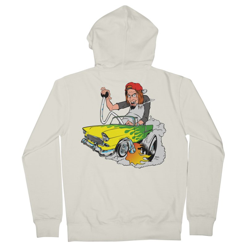 Topless 56 Chevy Women's French Terry Zip-Up Hoody by EngineHouse13's Artist Shop