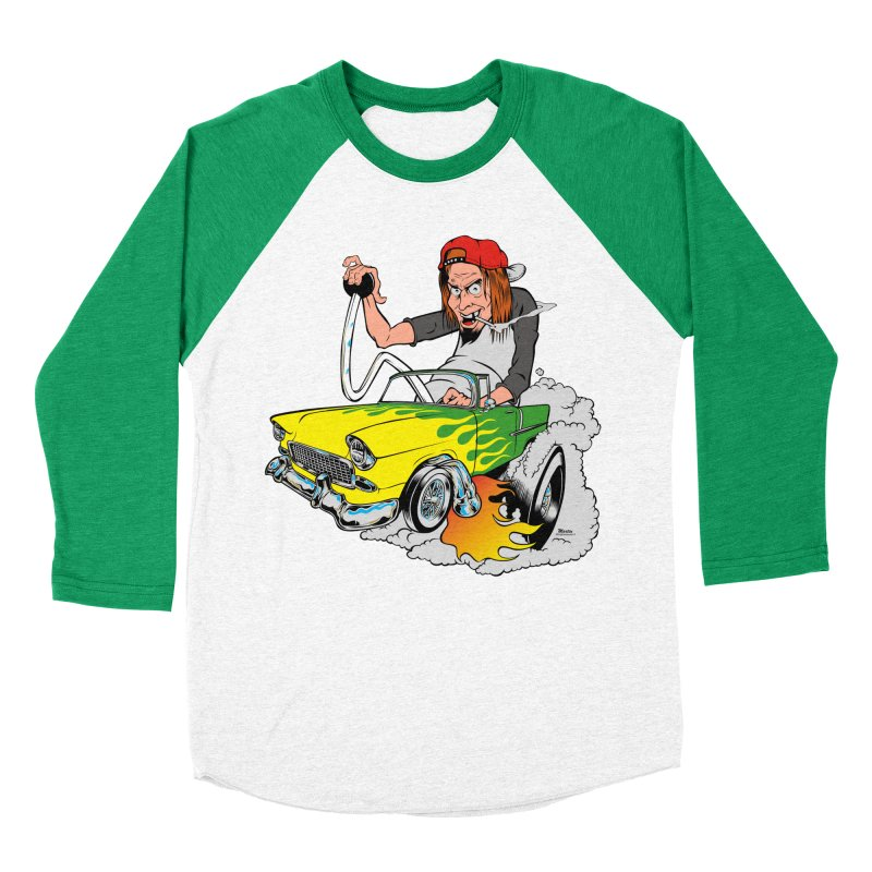Topless 56 Chevy Men's Baseball Triblend T-Shirt by EngineHouse13's Artist Shop