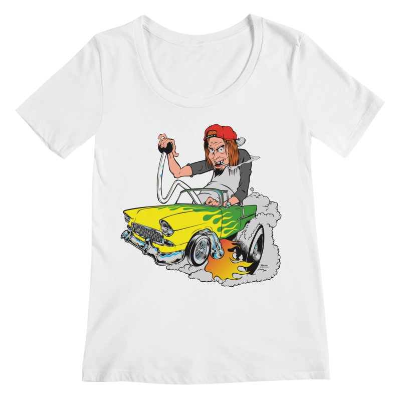 Topless 56 Chevy Women's Scoopneck by EngineHouse13's Artist Shop