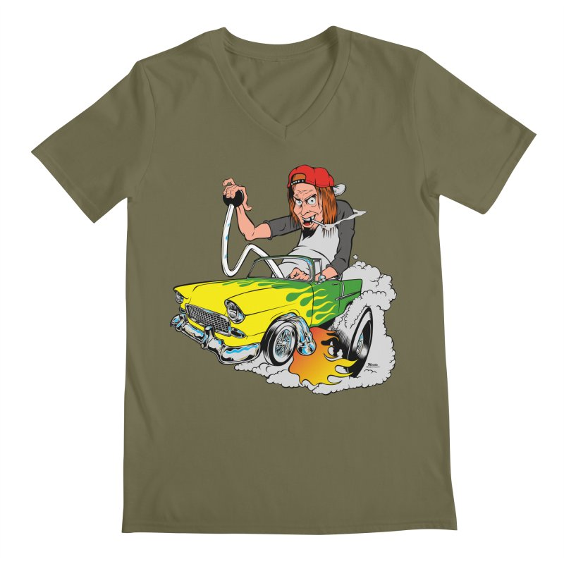 Topless 56 Chevy Men's V-Neck by EngineHouse13's Artist Shop